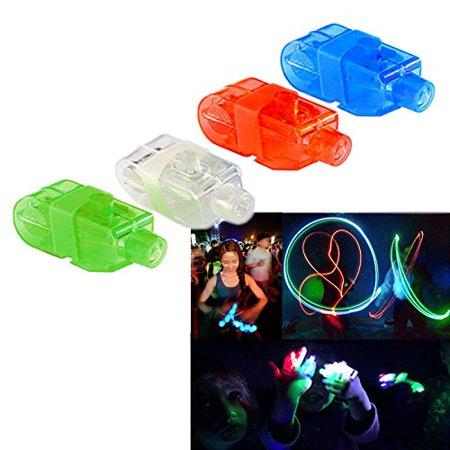 Finger Lights - Led Party Finger Lasers 80 Pc | Multicolor Novelty Finger Beams Set | Bright Raving Strap on Finger Lasers 80 Pk | Fun Laser Pointers for Parties | Light up Toys for Fingers - 80 Pcs - Led Finger Light