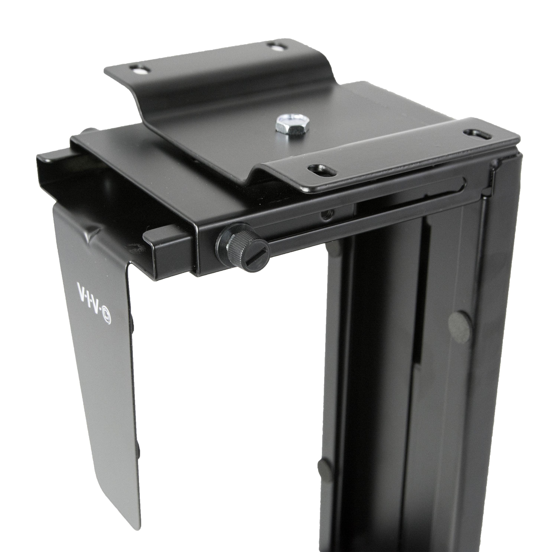 VIVO Adjustable UnderDesk and Wall PC Mount Computer Case Holder