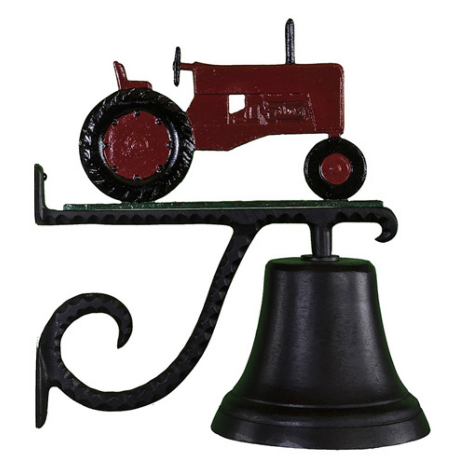 Cast Bell with Red Tractor Ornament