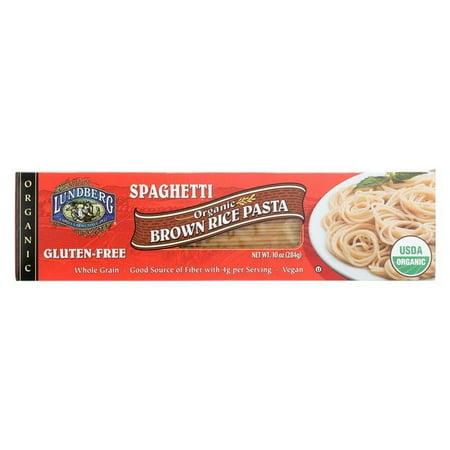 Lundberg Family Farms Organic Spaghetti Brown Rice Pasta - pack of 12 - 10 Oz.