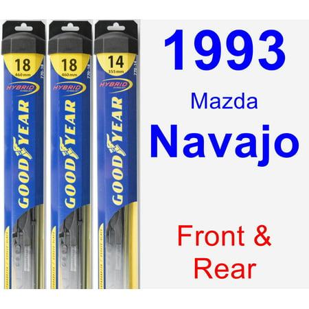 - 1993 Mazda Navajo Wiper Blade Set/Kit (Front & Rear) (3 Blades) - Hybrid