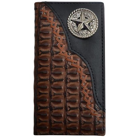 3D Belt DW0103 Kids Black & Brown Rodeo Croc Print Case, Black & Brown - 5.25 x 2.62 in.