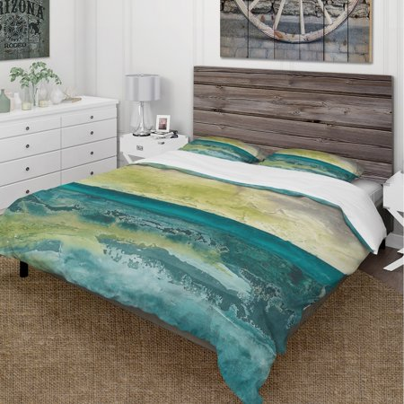 DESIGN ART Designart 'Beyond the Horizon I' Cottage Bedding Set - Duvet Cover &