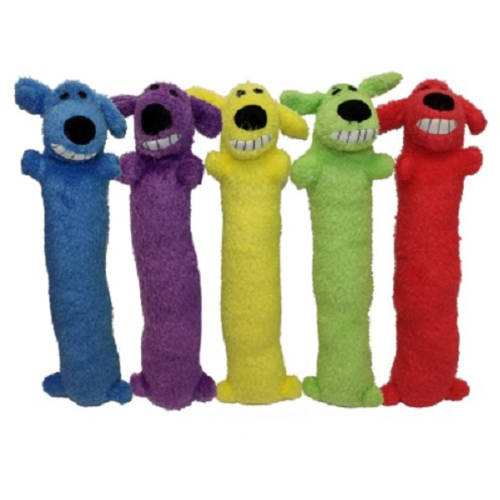 Multipet Loofa Dog Mini, 6 Inches, Assorted Colors