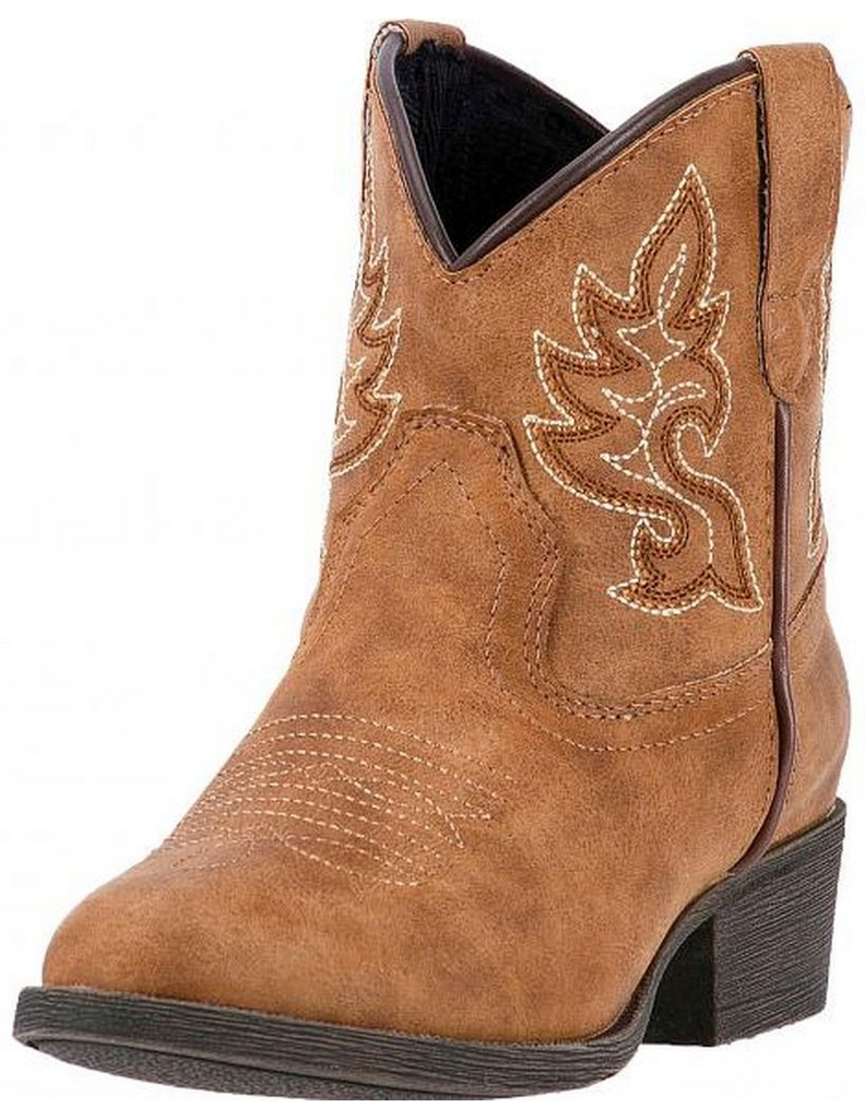 Laredo Western Boots Girls Chloe Cowgirl Stitch Round Toe Brown LC2294 by Laredo