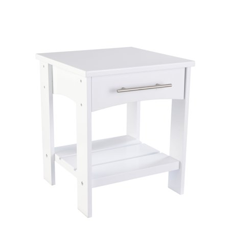 KidKraft Addison Wooden Twin Side Table with Drawer, Children's Bedroom Furniture - White