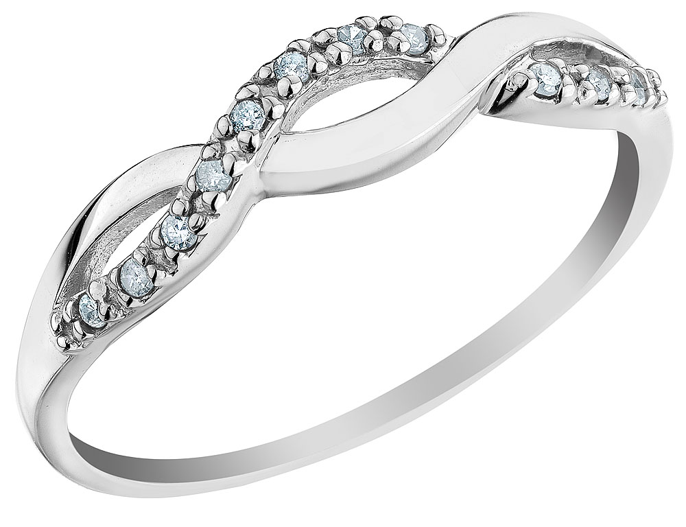 Infinity Diamond Promise Ring in 10K White Gold Walmart