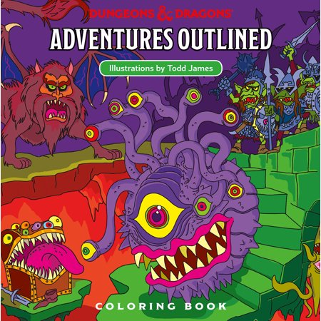 Dungeons & Dragons Adventures Outlined Coloring