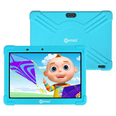 Contixo 10 inch K101 16GB 2GB RAM Kids Tablet with Children Parental Control Wifi 20+ Learning Games & Apps Exclusive Looney Tunes Content for Toddlers W/ Kid-Proof Case - (Best Tablet For Kids Games)