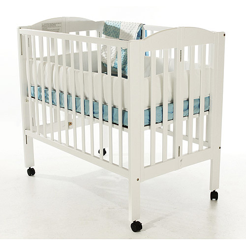 Dream On Me 2 In 1 Folding Portable Crib White   Walmart.com