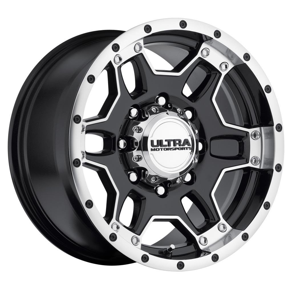 Ultra Mongoose 16 Machined Black Wheel / Rim 6x5.5 with a...