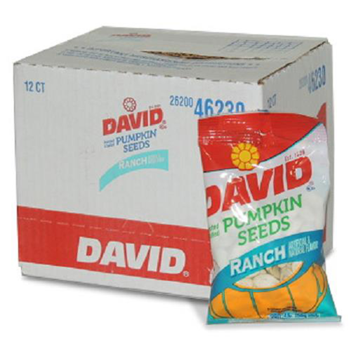 Product Of David, Pumpkin Seeds Ranch , Count 12 (2.25 oz) - Sunflower Seeds / Grab Varieties & Flavors
