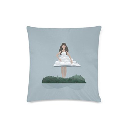 BSDHOME Cloud and Woman Deisign Cushion Cases Pillow Cover Two Sides Printing 16x16 Inches - image 1 of 1