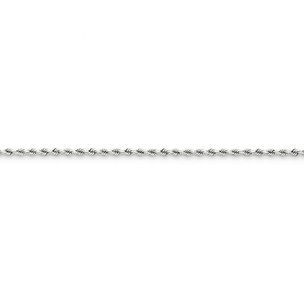 14K White Gold 2mm Rope Chain Necklace