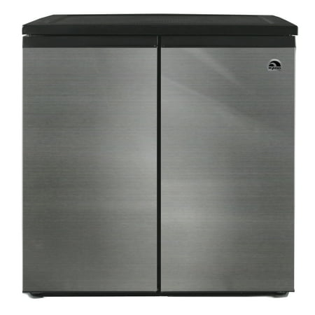 igloo 5 5 cu ft side by side 2 door refrigerator freezer stainless steel. Black Bedroom Furniture Sets. Home Design Ideas