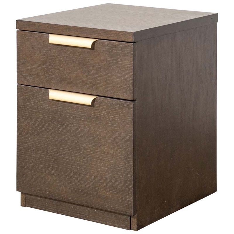Beaumont Lane 2 Drawer Mobile File Cabinet in Dark Mocha