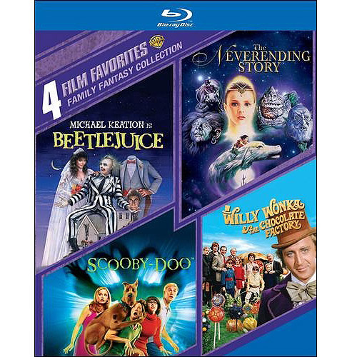 Family Fantasy Collection: 4 Film Favorites: Beetlejuice / The Neverending Story / Scooby-Doo / Willy Wonka And The Chocolate Factory (Blu-ray) (Widescreen) WARBR427453