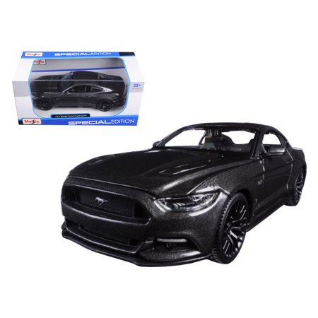 2015 Ford Mustang GT 5.0 Grey 1/24 Diecast Model Car by (Late Model Mustang)