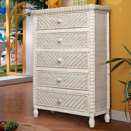 Sea Winds Trading Santa Cruz 5 Drawer Chest ()