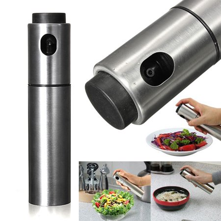 Stainless Steel Olive Spraying Mister Oil Spray Bottle Sprayer Pump Can Pot Kitchen Tool