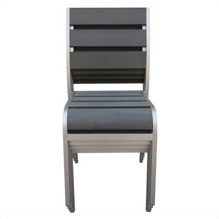 Boraam Fresca Side Chair in Solid Brushed Aluminum (Set of 4) - image 1 of 9