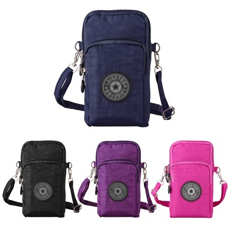 EEEKit Waterproof Nylon Crossbody Cell Phone Purse Smartphone Wallet Bag for Women Compatible with All Smartphones Up to