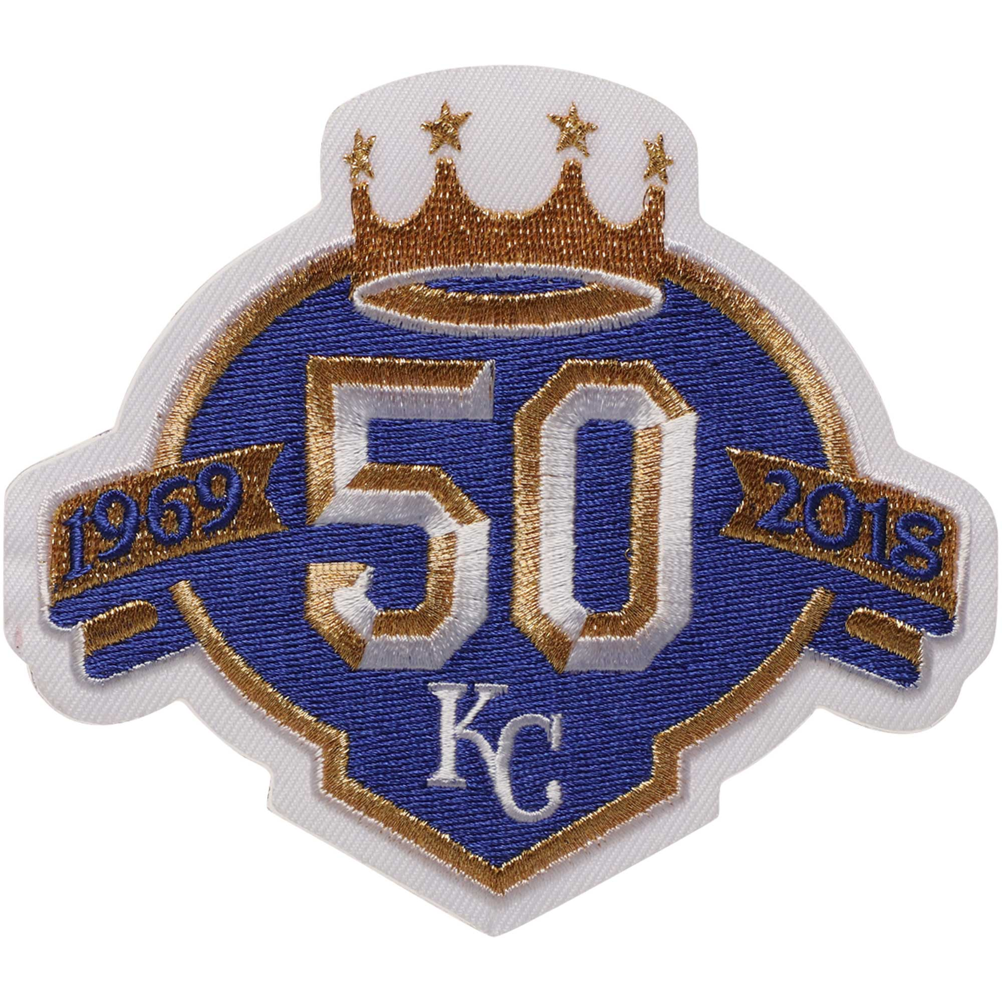 Kansas City Royals 50 Years Event MLB Patch - White - No Size