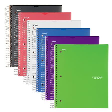 Five Star Customizable Notebook, 5 Subject, College Ruled, Assorted Colors (08689) (College Rule Notebook)