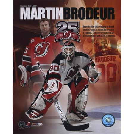 Martin Brodeur - 48 Wins Portrait Plus Sports Photo