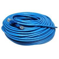 Blue 200 FT Foot 60M Cat5e Patch Ethernet LAN Network Router Wire Cable Cord For PC, Mac, Laptop, PS2, PS3, PS4 , XBox, and XBox 360 XBox One