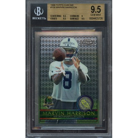 1996 Topps Chrome 156 Marvin Harrison Colts Rookie Card Bgs 95 95 9 95 95