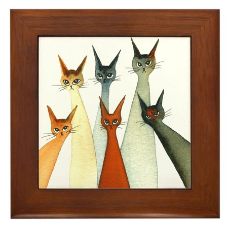 CafePress - Seville Stray Cats - Framed Tile, Decorative Wall Hanging