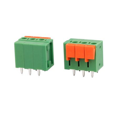 5pcs KF142V 250V 15A 5.08mm Pitch 3P Spring Terminal Block for PCB Mounting - image 2 of 3