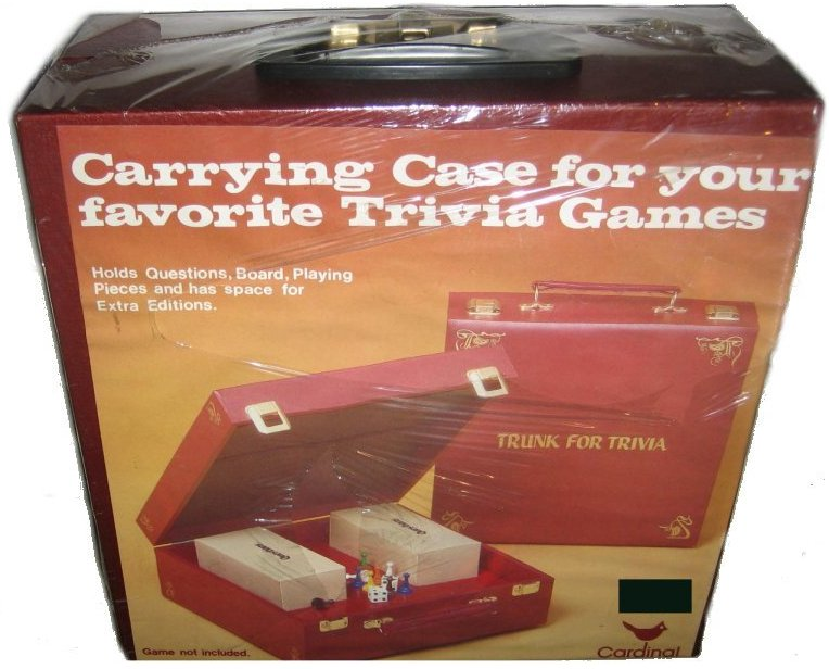 Trunk For Trivia Cardinal Vintage Board Games Carrying Storage Case by Cardinal
