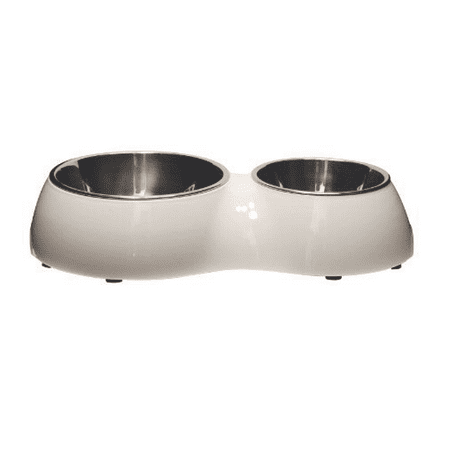 Catit Food Dish - Catit Double Diner, White