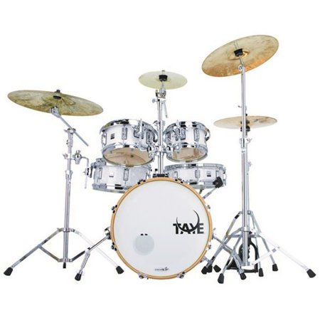 Taye GK518F-WP 5 Piece Gokit Hardware Drum Pack, White Pearl Discount Pearl Drum Sets