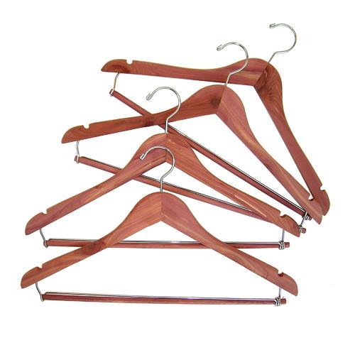 Household Essentials Cedar Space Saver Hanger, 4-Pack