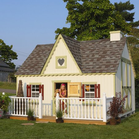Victorian Cottage Gardens - Little Cottage Victorian 8 x 12 ft. Wood Playhouse