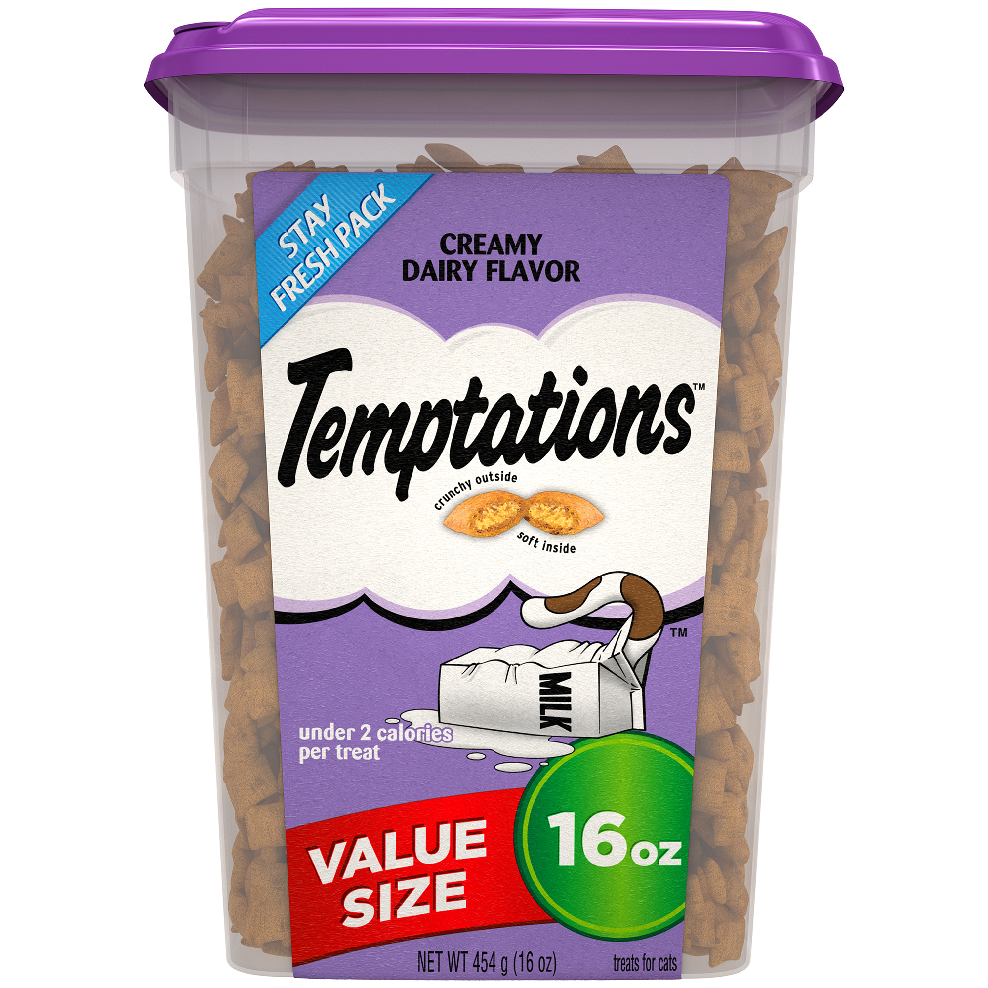 TEMPTATIONS Classic Treats for Cats Creamy Dairy Flavor, 16 oz. Tub