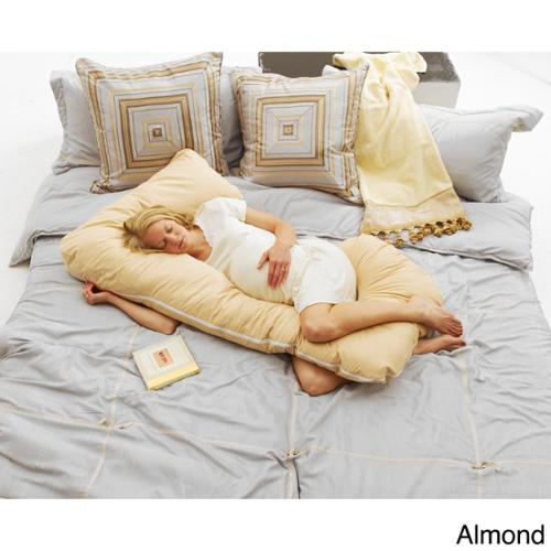 Today S Mom Cozy Cuddler Pregnancy Pillow Almond Walmart Com
