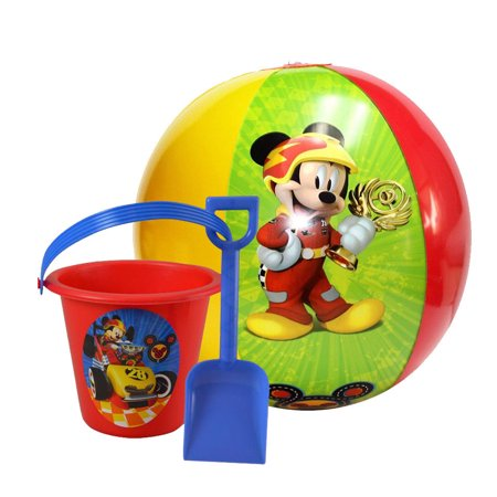 Disney Mickey Mouse & Friends Inflatable Beach Ball W/ Sand Bucket & Shovel](Mickey Mouse Bucket)