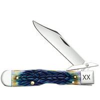 WR Case XX Pocket Knife 61802 CHEETAH BURNT PURPLE BONE TRIBAL JIG(6111 1/2L SS)