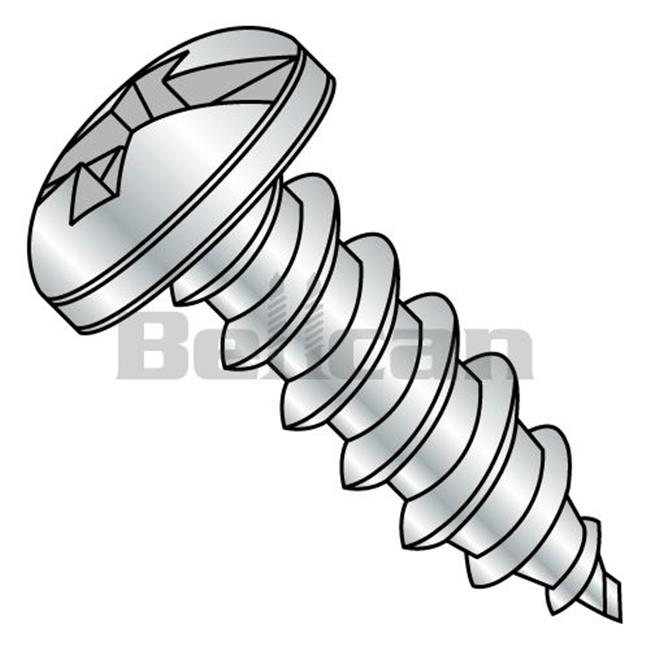 Shorpioen 1006ABCP 10 x 0.37 Combination Pan Head Self Tapping Type AB Fully Threaded Screw - Zinc - Box of 10000 - image 1 of 1