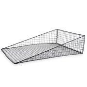 Rectangular Incline Wire Basket Store Display - Black 22in