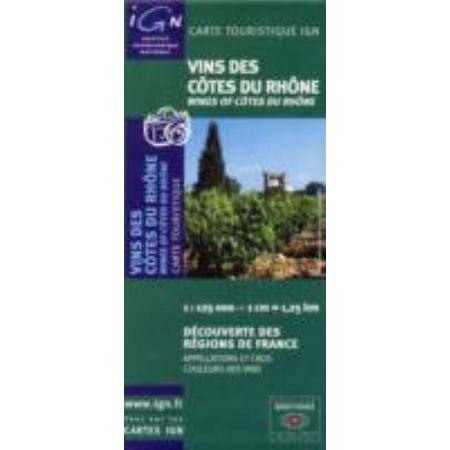 Wines of Cotes Du Rhone Reg F (Map)