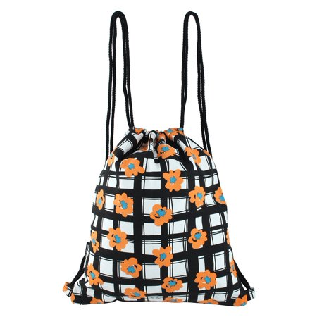 Lattice Pattern Storage Vacation Handbag Shoulder Sackpack Drawstring - Drawstring Handbag