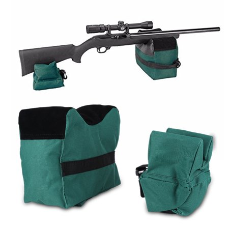 Shooting Range Sand Bag Set Rifle Gun Bench Rest Stand Front Rear Bag Convenient