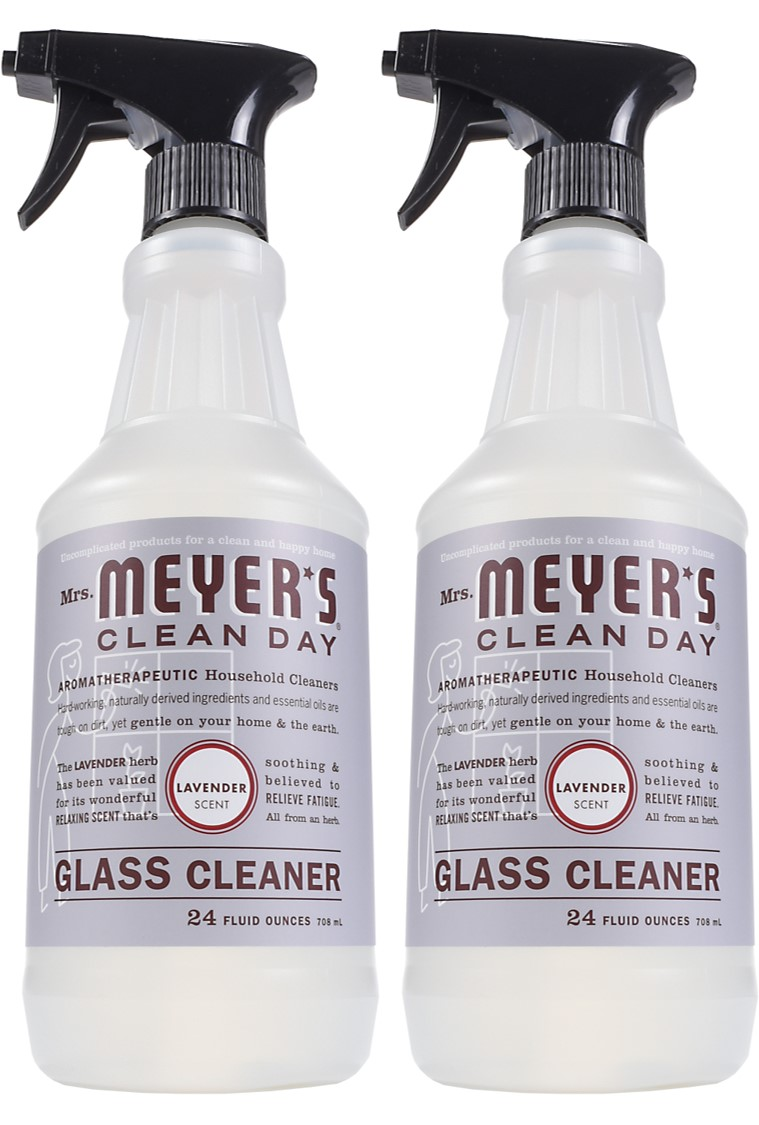 (2 Pack) Mrs. Meyer's Clean Day Glass Cleaner, Lavender, 24 fl oz