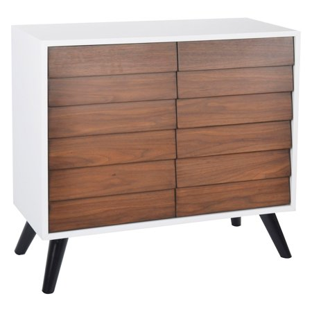 - Two Tone Walnut / White Two Door Chest