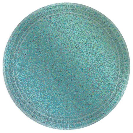 Prismatic Robin's Egg Blue Lunch Plate - Robin's Egg